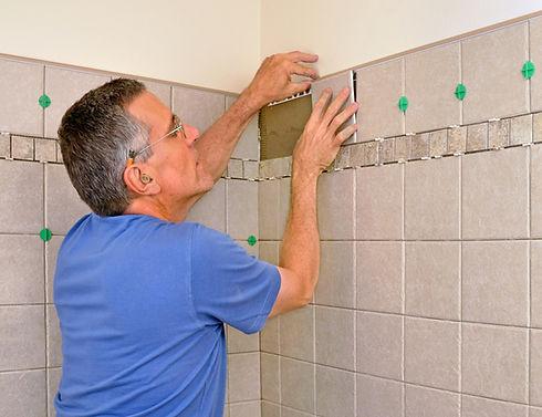 Hampton VA handyman working on bathroom