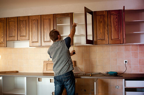 Corona California kitchen remodeling being done by a team of handymen