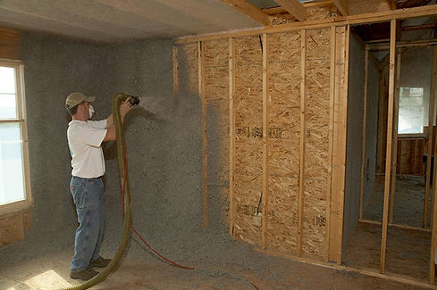 insulation expert working on cellulose insulation service in Indianapolis Indiana