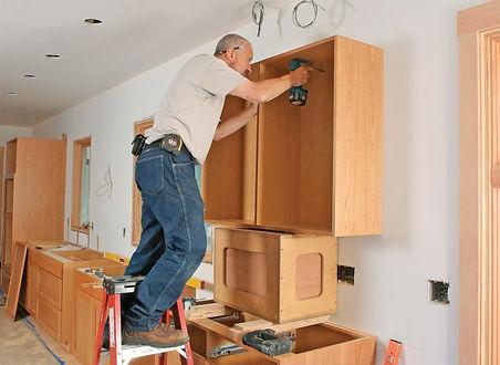 Corona California handyman working on kitchen remodeling