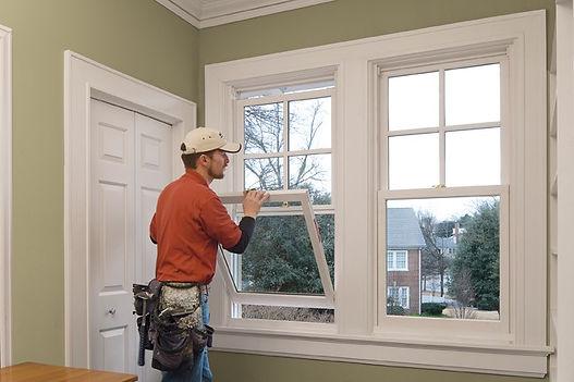 handyman working on windows services in Norfolk Virginia