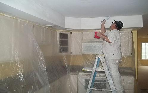 painter working in Ellicott City Marylan