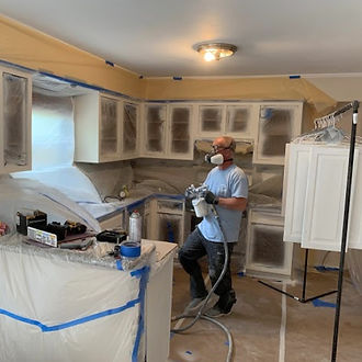 Norfolk Virginia kitchen remodeling services work being done by a handyman