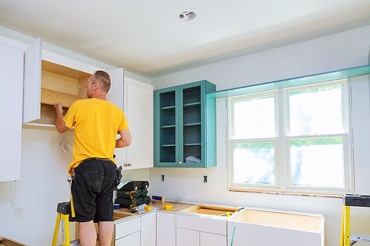 Corona California kitchen remodeling services being done by a team of handymen