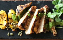 Grilled Pork Loin & Plantains with Cilan