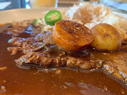 Beef Steak in Pasilla Chile Sauce.