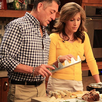 Chef Martin on set of Great Day