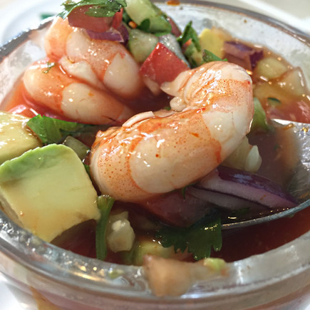 Spicy Chilled Mexican Shrimp Cocktail