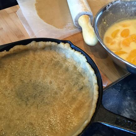 Peach Mango and Almond Cobbler