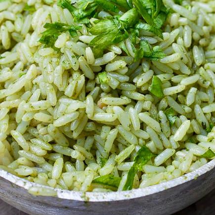 Cilantro and Mexican White Rice