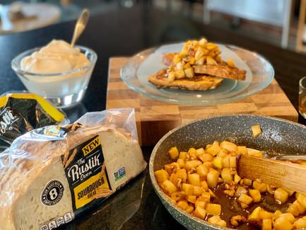 Caramelized Apple and Walnut French Toast