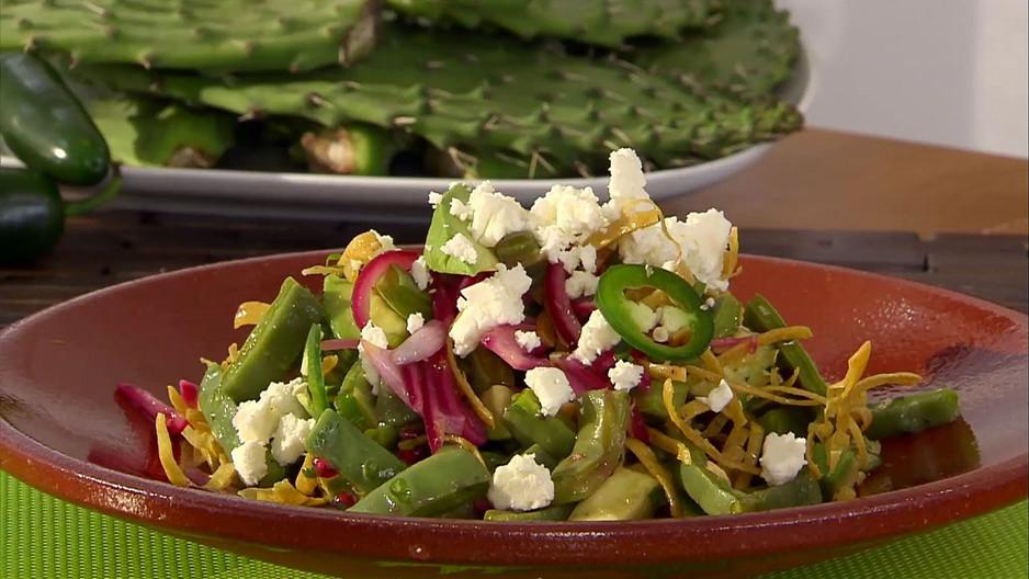 Cactus Paddle Salad (Ensalada De Nopales)