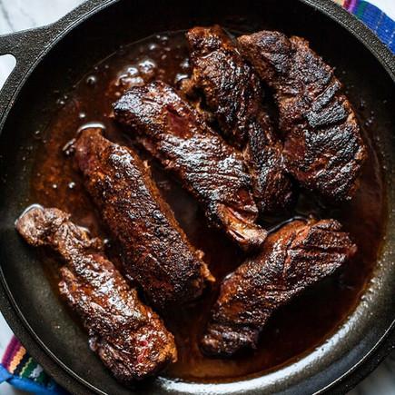 Pork Steak in Pasilla Pepper Sauce