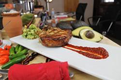 cilantro and lime pork chop