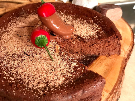 Flourless Chocolate and Ancho Chile Cake