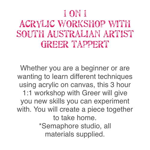 1:1 Acrylic workshop 2 hours