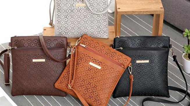 Blossomita Handbag With Cutout Flower Design