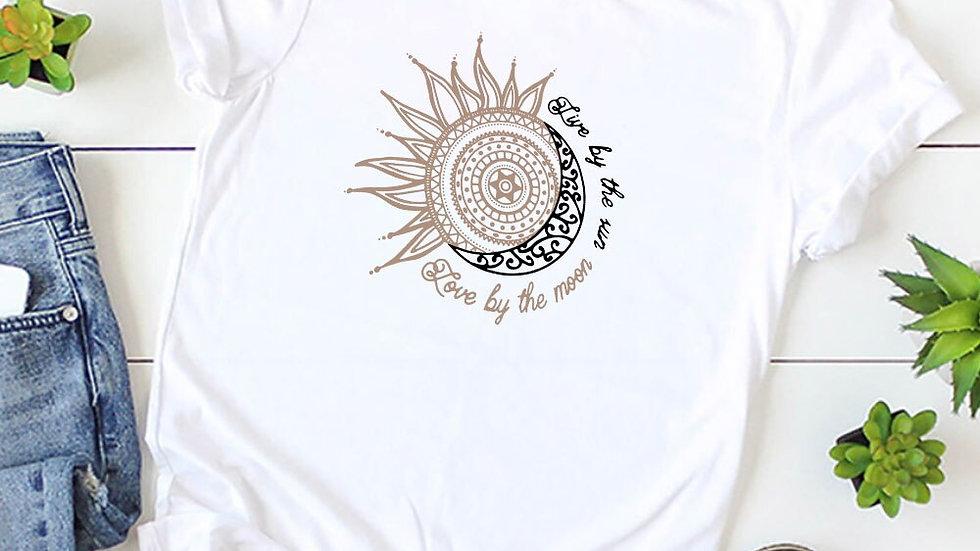 Women's Printed T Shirt Summer Tee Short Sleeve Round Neck Casual