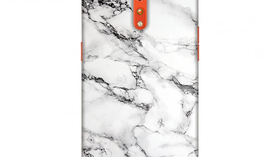 White Marble 2 Slim Hard Shell Case For Oppo Reno Z