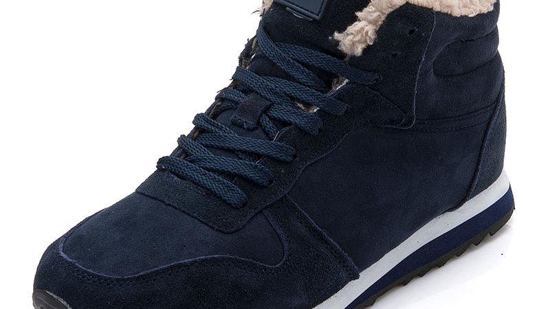 Men Shoes Winter Warm Fur Men Casual Shoes Lace Up