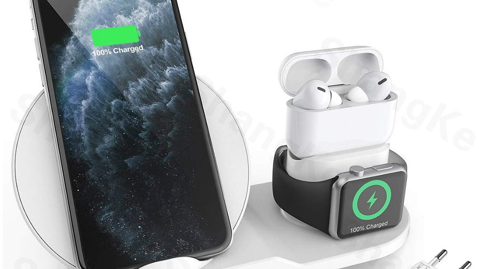 Wireless Charger Stand for iPhone AirPods Apple Watch, Charge Dock