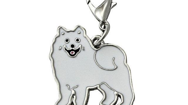 2016 Samoyed Dog Tag Pet doggy ID Enamel