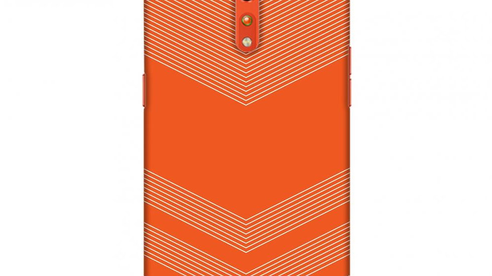 Carbon Fibre Redux Tangy Orange 2 Slim Hard Shell Case For Oppo Reno Z