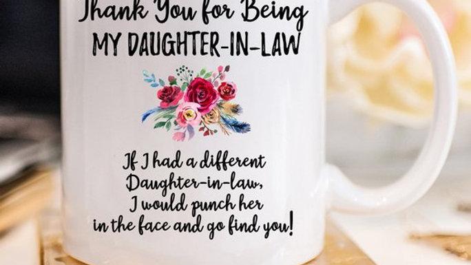 Daughter in Law Gift Daughter in Law Mug Daughter