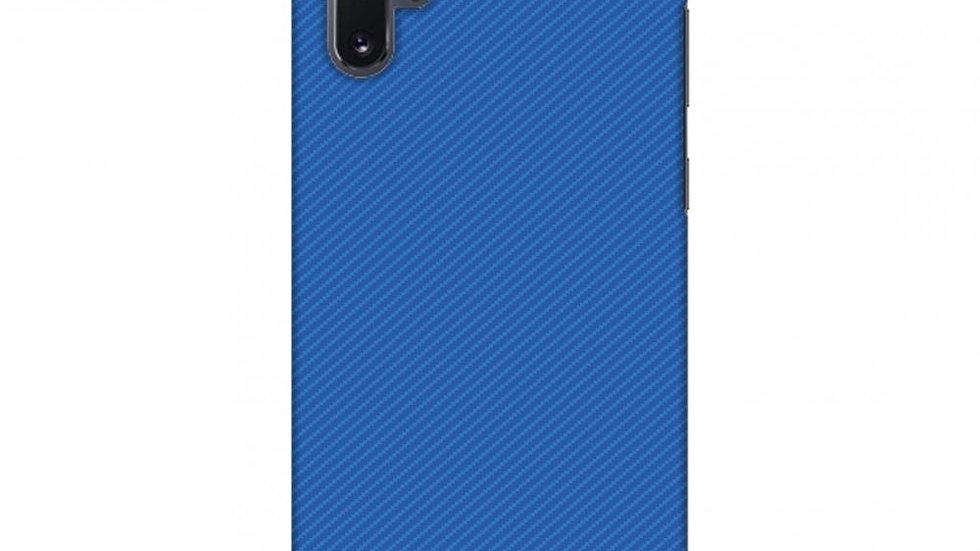 Carbon Fibre Redux Coral Blue 17 Slim Hard Shell Case For Samsung