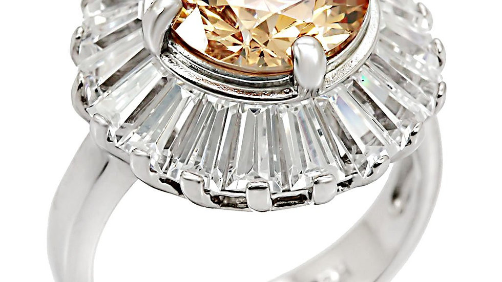 LOS412 Rhodium 925 Sterling Silver Ring with AAA