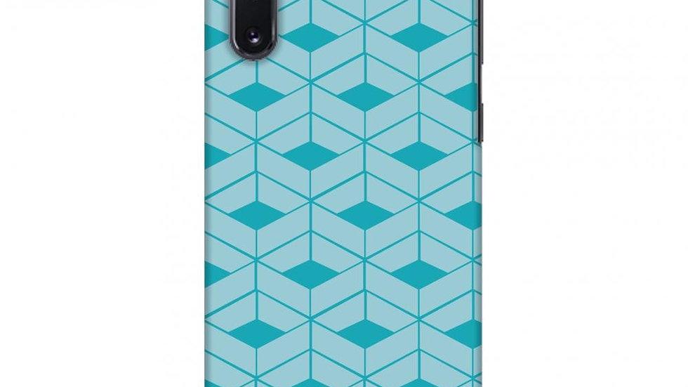 Carbon Fibre Redux Aqua Blue 9 Slim Hard Shell Case For Samsung Galaxy