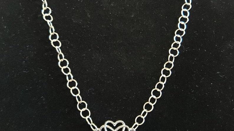 Silver Infinity Heart Choker / Necklace