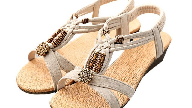 Roman Summer Sandals Women's Casual Peep-toe Flat