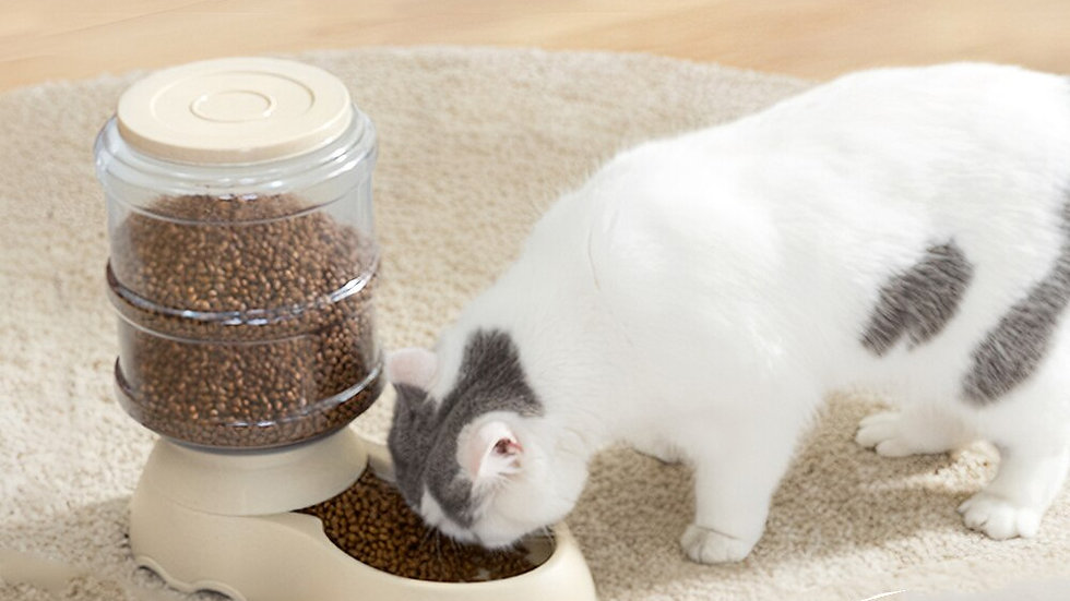 3.75L Dog Cat Food Bowl Dogs Automatic Gravity