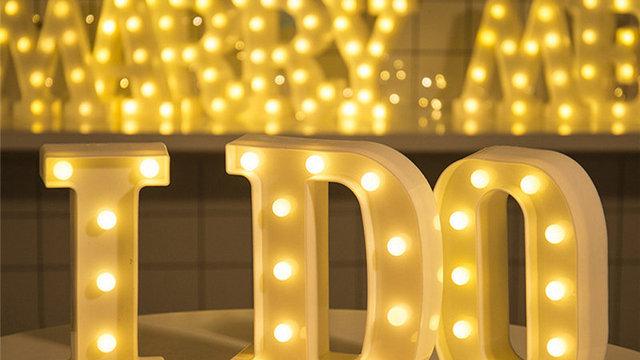 Romantic Alphabet Letter Lights Wedding party DIY
