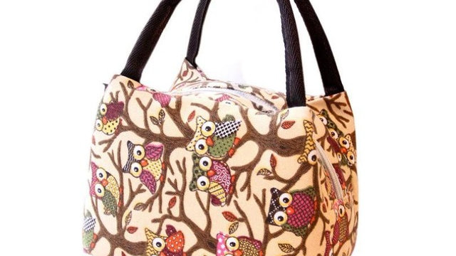 Lunch Bag mini owl Printing Portable Insulated