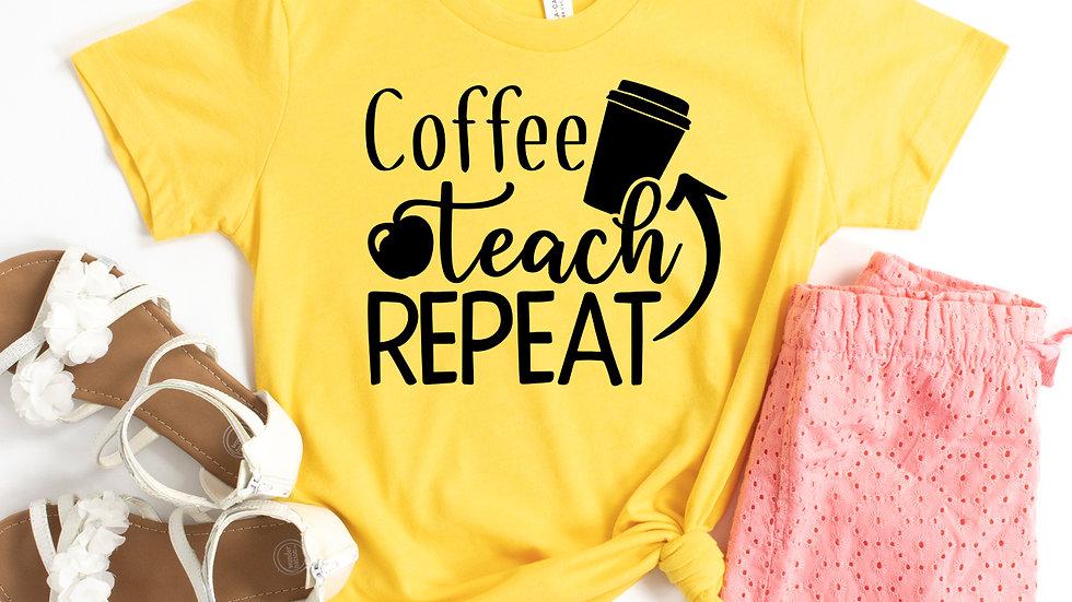Coffee Teach Repeat T-shirt
