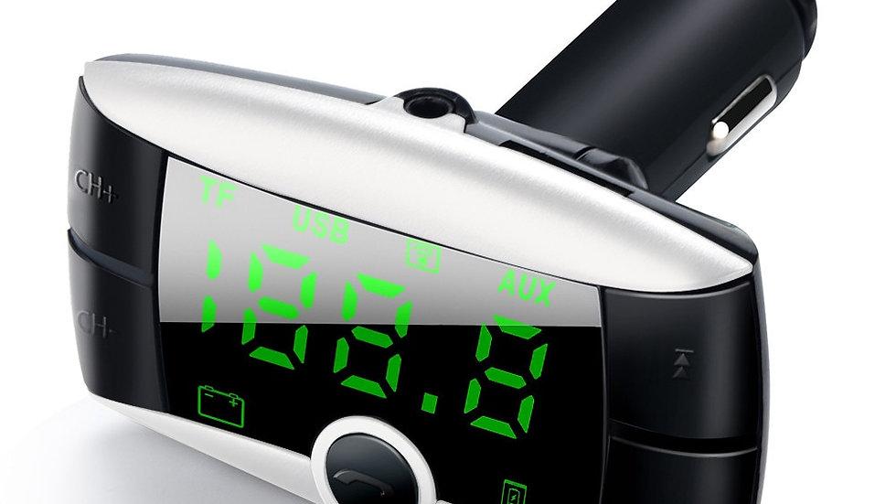 HandsFree Wireless Bluetooth FM Transmitter + AUX