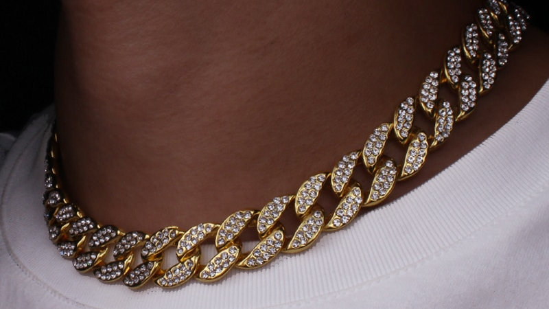 Karopel New Fashion Gold Color Rhinestone  Necklace for Women Men