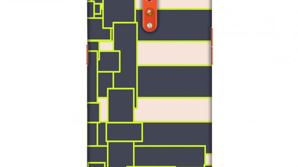Brick blocks- Beige and grey Slim Hard Shell Case For Oppo Reno Z