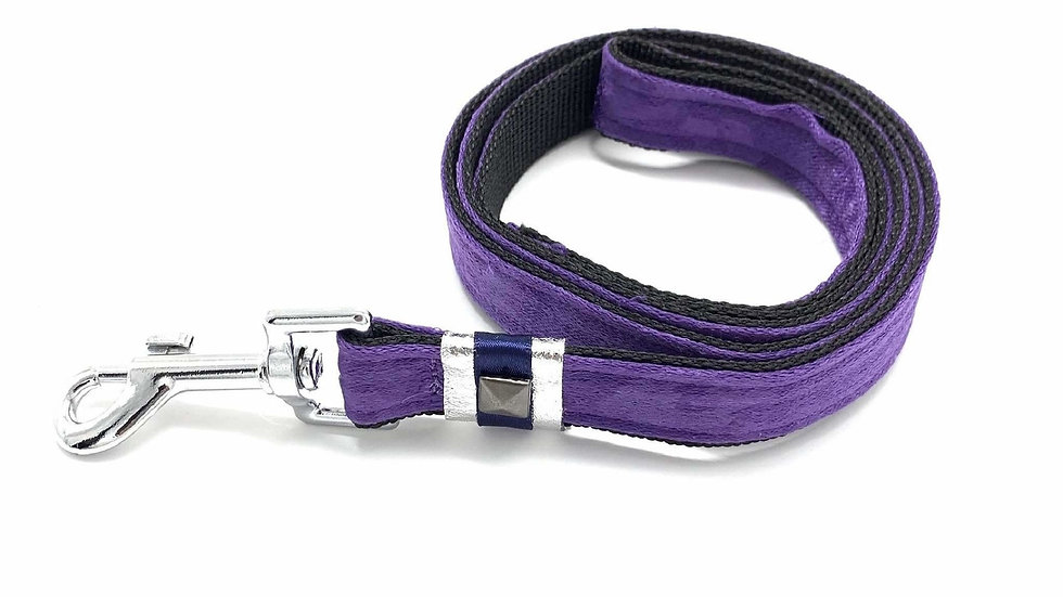 Fenrir purple leopard leash