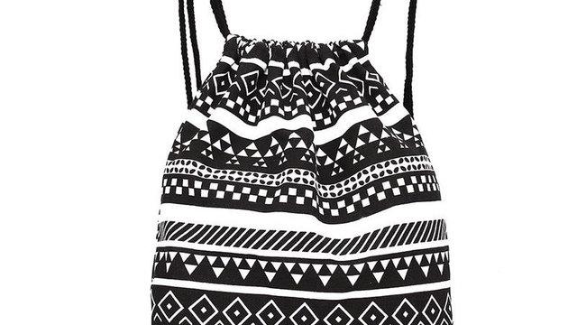 Fashion linen drawstring bag women men Unisex