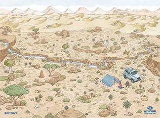 Hyundai Where's Wally in Desert