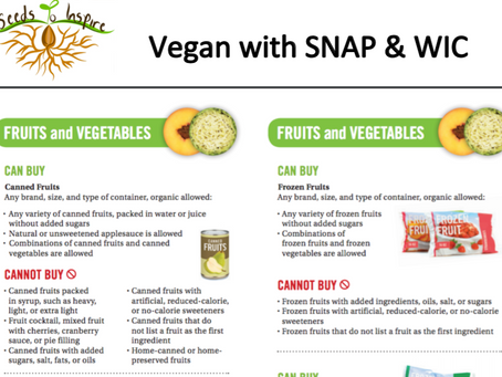 Using the Guide to Plant-Based Shopping with SNAP & WIC