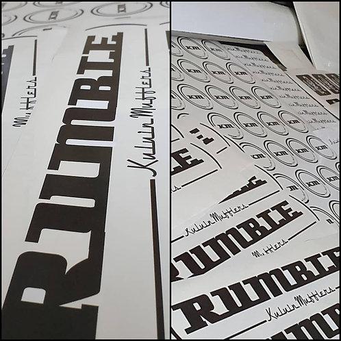 Rumble Kuluin Mufflers Sticker