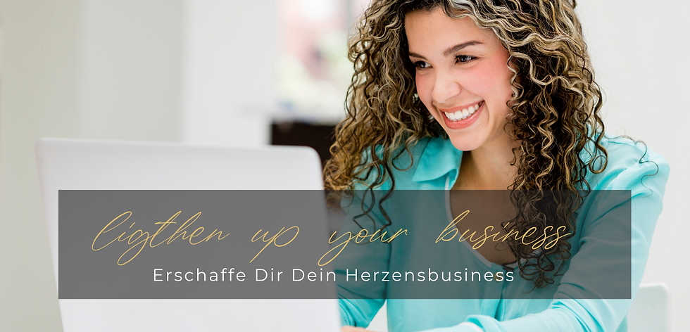Businesscoaching Lighten up your business