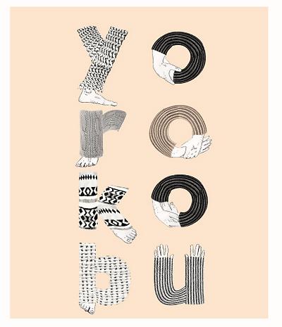 Illustrated font graphic design cover Yorokobu Magazine Spain