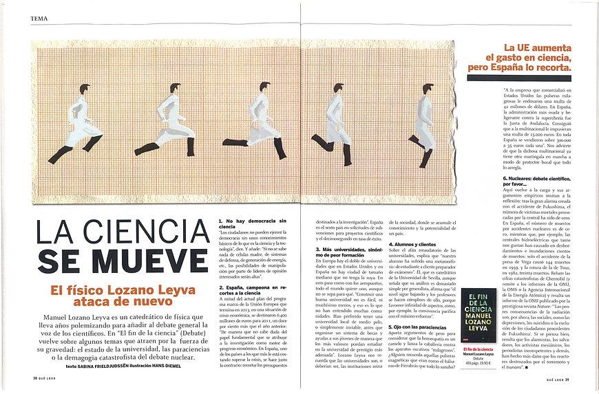 Illustration interview Lozano Leyva Revista Que Leer