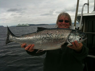 female captain charter fishing NW northwest Puget Sound