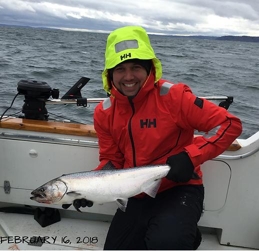 Possession Point salmon fishing charter near Seattle Washington State